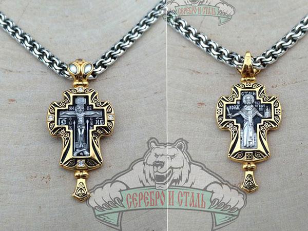 Крест православный, на обратной стороне Николай Чудотворец