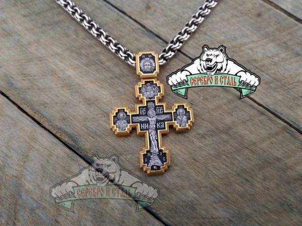 Крест православный с ликами святых