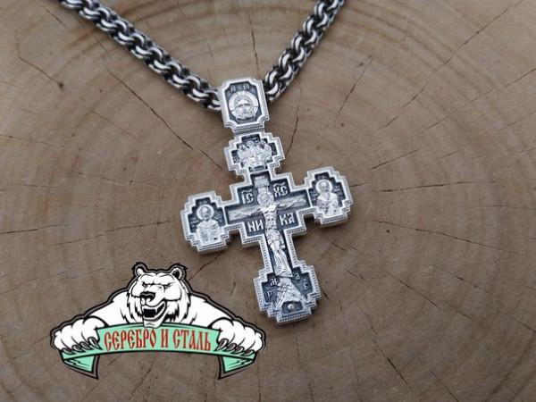 Крест Православный Большой двухсторонний