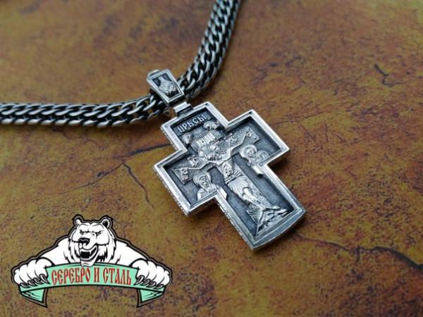 Крестик православный 49 из серебра 925 пробы