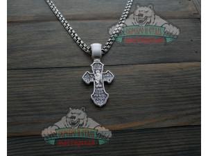 Крест большой богатырский 2. Серебро 925