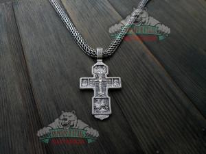 Крест богатырский с ликами Святых 2. Серебро 925