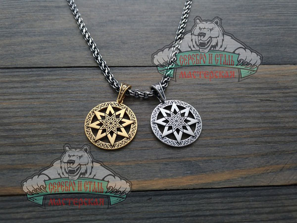 Оберег звезда Алатырь и обережный узор Славян.