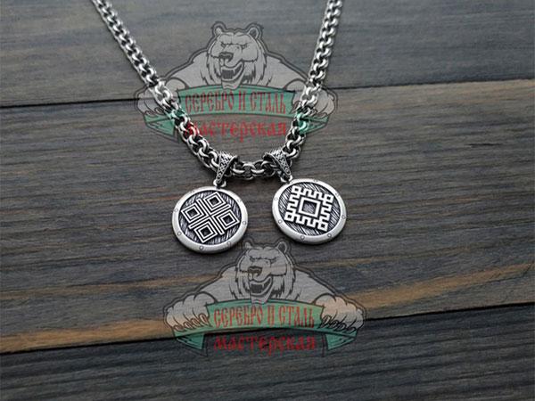 Оберег женский Репейник счастья и символ Макошь.